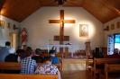 Nałęczów, Kaplica w Domu Rekolekcyjnym, chwila skupienia przed Mszą Świętą