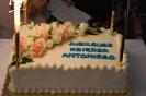 Sala muzykoterapii w Soli Deo, jubileuszowy tort ks. Antoniego z napisem: